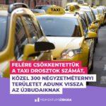 A felére csökkentik a taxi drosztok számát Újbudán, hogy ezek is a parkolási gondokat enyhítsék…